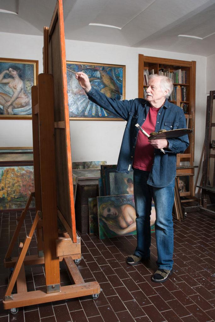 Malíř při práci